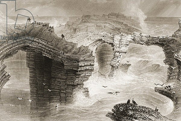 Natural Bridges near Kilkee, County Clare, Ireland, 1860s