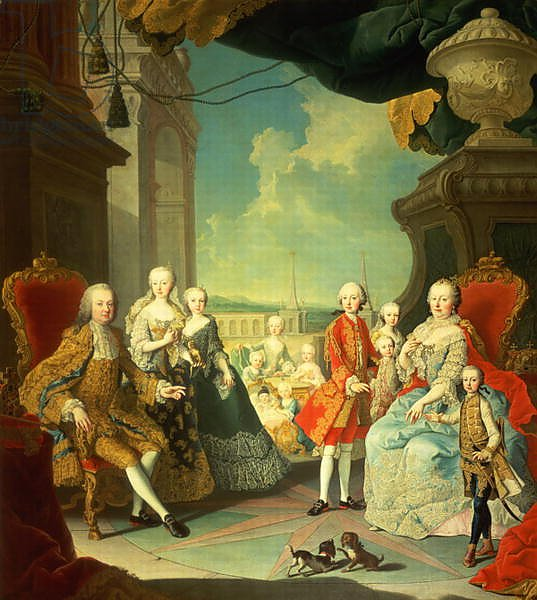 Maria Theresa and her Husband at the staircase