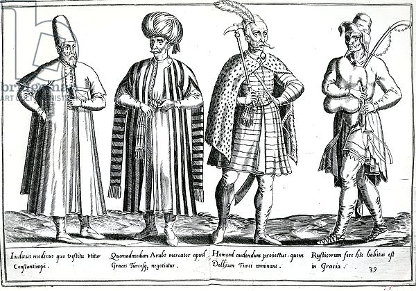 Variations of dress in the Eastern Mediterranean area