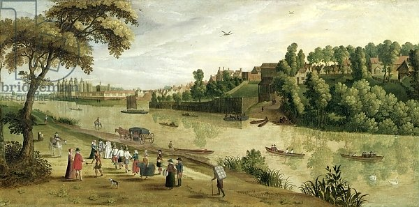 The Thames at Richmond, with the Old Royal Palace, c.1620
