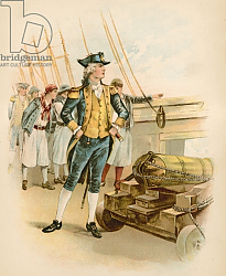 Постер Школа: Северная Америка (19 в) John Paul Jones, first captain of the US Navy