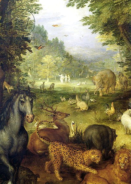Earth, or The Earthly Paradise, detail of animals, 1607-08