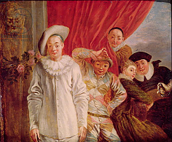 Постер Ватто Антуан (Antoine Watteau) Actors of the Comedie Italienne