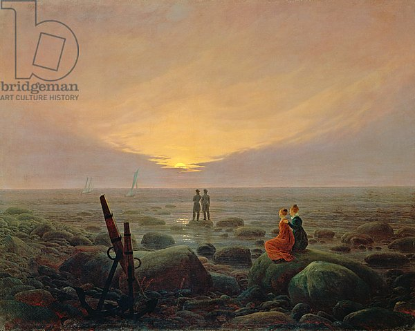 Moon Rising Over the Sea, 1821