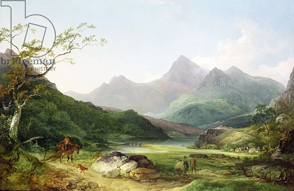 A View of Snowdon from Capel Curig, 1787