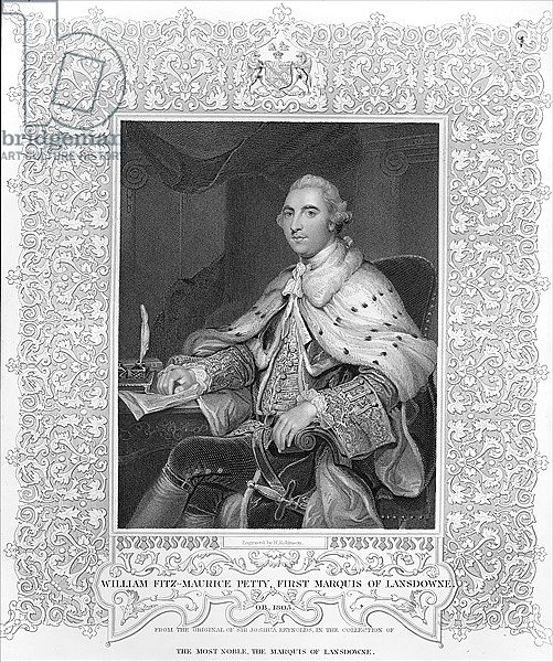 William Fitz-Maurice Petty, First Marquis of Lansdowne, engraved by H. Robinson