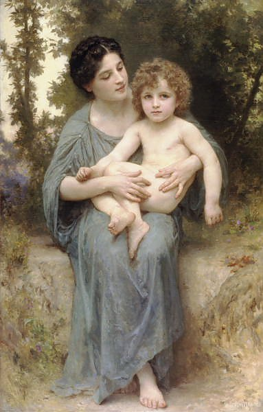 Постер Бугеро Вильям (Adolphe-William Bouguereau) Младший брат 2