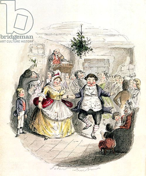 Mr Fezziwig's Ball, from 'A Christmas Carol' by Charles Dickens 1843