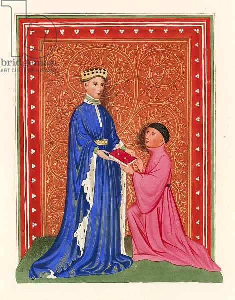 Occleve Presenting his Book to Henry V, c 1410