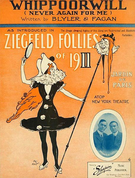 Ziegfeld Sheet Music - Ziegfeld Follies Of 1911 (Whippoorwill - Never Again For Me) Copy