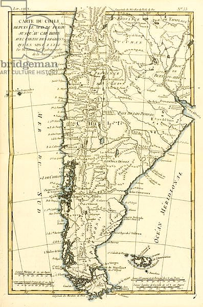 Chile, from the south of Peru to Cape Horn, 1780
