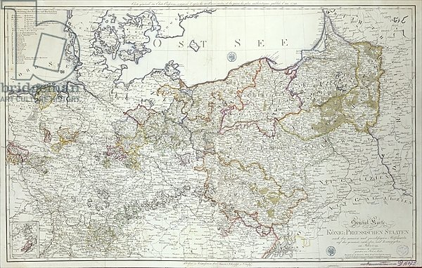 Map of the Prussian States in 1799