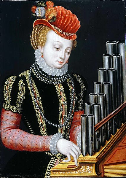 'An Unknown Noblewoman, as Saint Cecilia'