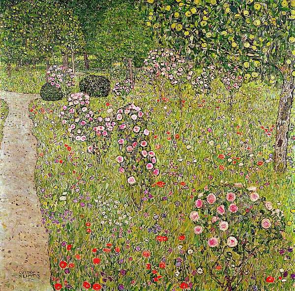 Постер Климт Густав (Gustav Klimt) Orchard with roses
