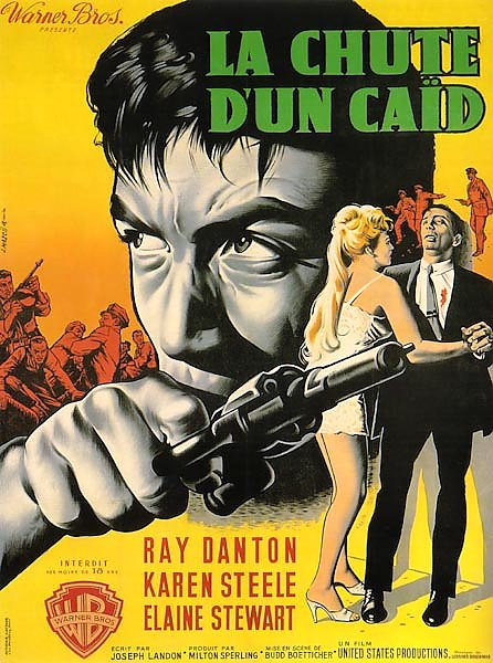 Film Noir Poster - Rise And Fall Of Legs Diamond, The