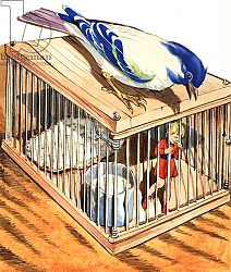 Постер Коэльо Эдуардо (совр) Tom Thumb in a Bird Cage, 1957