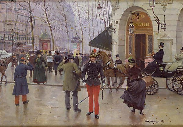 The Boulevard des Capucines and the Vaudeville Theatre, 1889