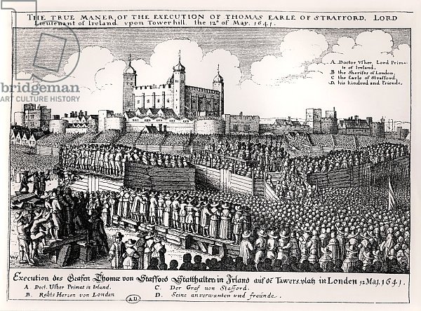 Execution of Strafford, May 12 1641