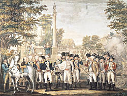 Постер Школа: Америка (18 в) The British Surrendering to General Washington after their Defeat at Yorktown