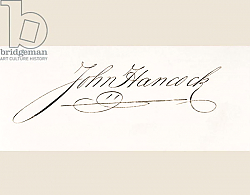 Постер Школа: Америка (18 в) Signature of John Hancock