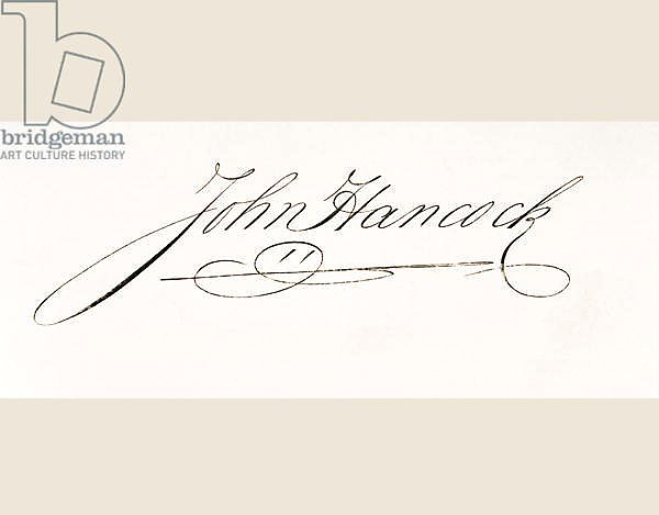 Signature of John Hancock