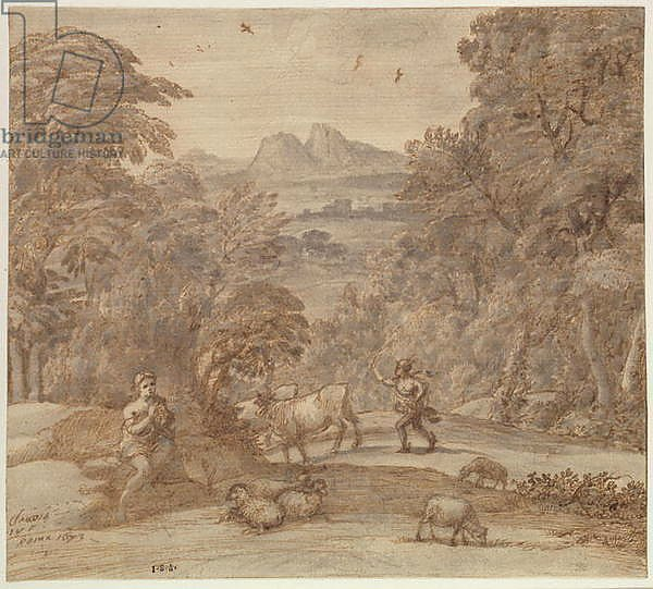 Landscape with Mercury and Apollo as a Shepherd, 1673