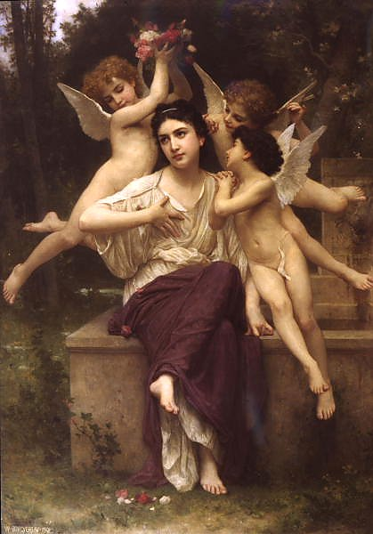 Постер Бугеро Вильям (Adolphe-William Bouguereau) Мечта о весне