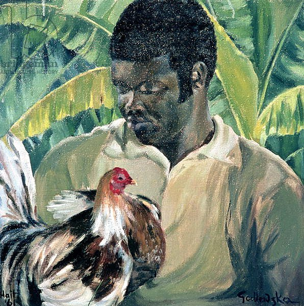 Постер Годлевска де Аранда (совр) Abel with Fighting Cock, 1961