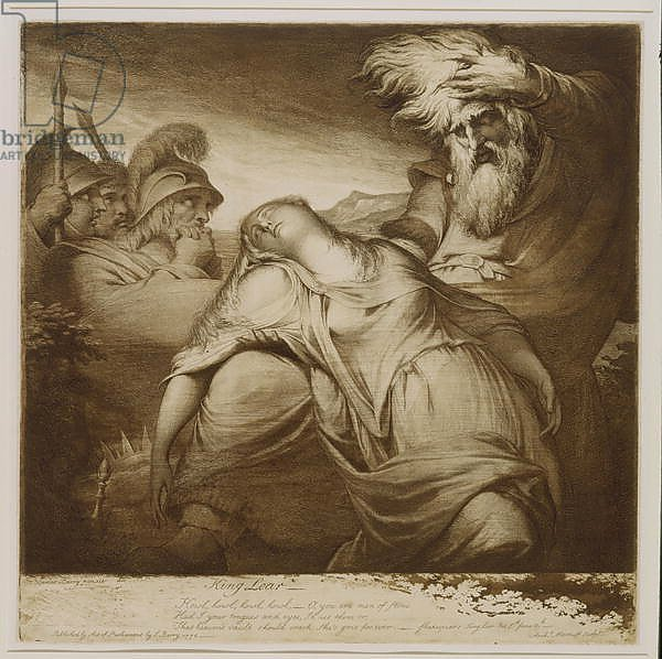 a study of the death of cordelia in king lear Summary the scene opens on the british camp near dover lear and cordelia are led in as prisoners, with edmund as their jailer as the two are led off to prison.