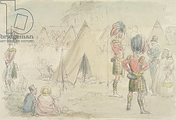 Постер Лич Джон Highland Regiment in Camp
