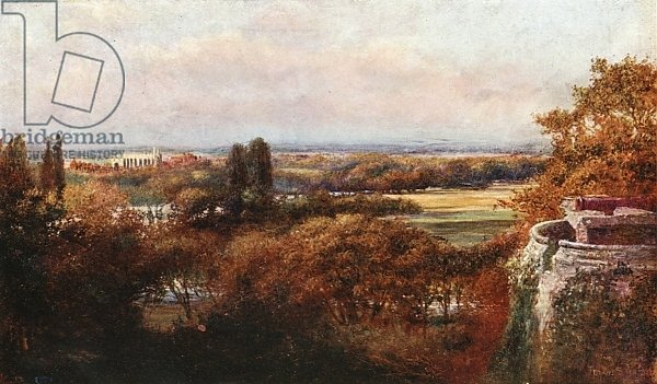 The Thames and Eton from the terrace, Windsor Castle