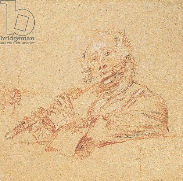 Man Playing a Flute, c.1710
