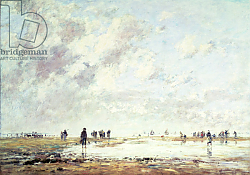 Постер Буден Эжен (Eugene Boudin) Low Tide at Etaples, 1886