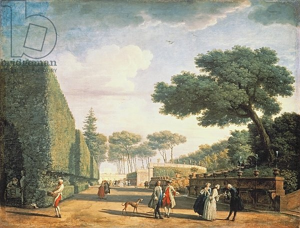 View in the Park of Villa Pamphili, 1749