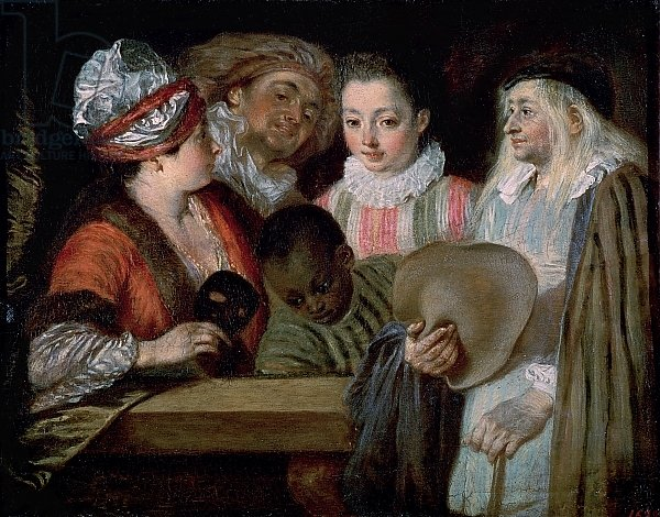 Постер Ватто Антуан (Antoine Watteau) Actors from the Theatre Francais, c.1714-15