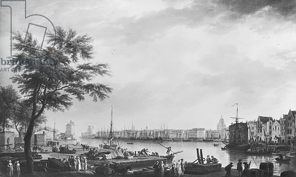 Port of La Rochelle, seen from the small shore, 1762