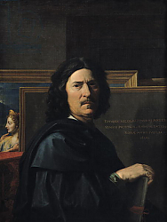 Постер Пуссен Никола (Nicolas Poussin) Portrait of the Artist, 1650