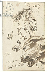 Постер Дик Энтони Study of Rider and head of a Horse, 1620-1