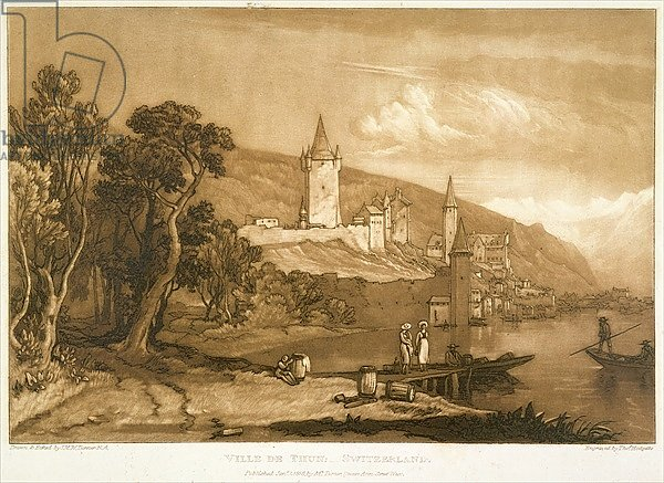 The Town of Thun, from the 'Liber Studiorum', engraved by Thomas Hodgetts, 1816