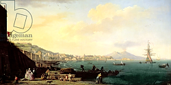 Постер Верне Клод View of Naples with Vesuvius in the Background