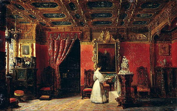 Princess Marie d'Orleans in her Gothic Studio in the Palais des Tuileries, 1836
