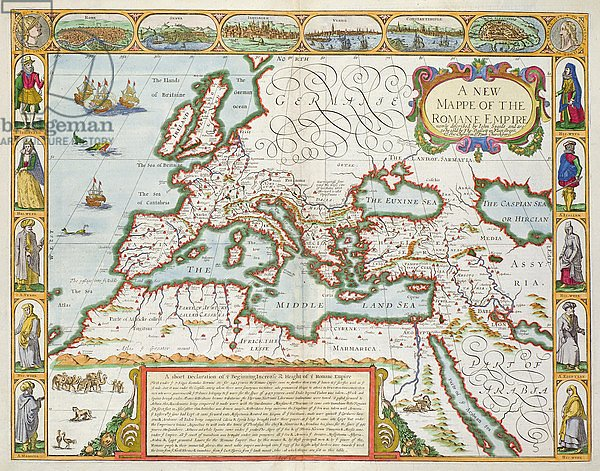 A New Map of the Roman Empire, 1676