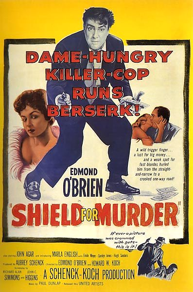 Film Noir Poster - Shield For Murder