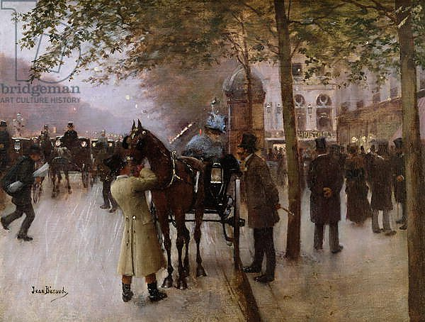 The Boulevards, Evening in Front of the Cafe Napolitain, late 19th century