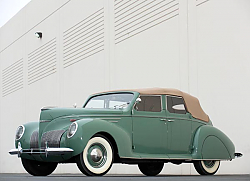 Постер Lincoln Zephyr Convertible Sedan '1938