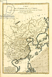 Постер Бонне Чарльз (карты) The Chinese Empire, Chinese Tartary and the Kingdom of Korea, Japan, 1780