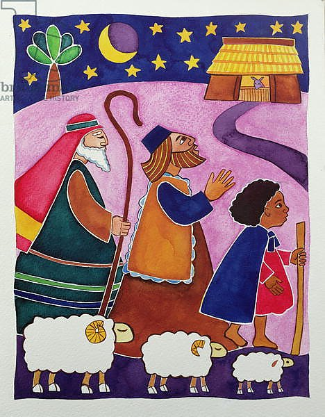 The Shepherds Journey to Bethlehem