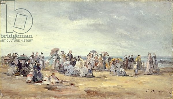 The Beach at Trouville, 1873