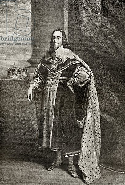 Charles I, engraved by Sir Robert Stange, from 'The Print-Collector's Handbook'