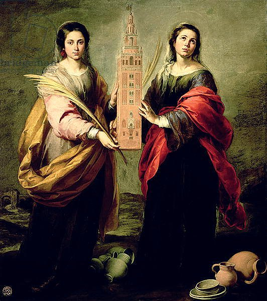 St. Justina and St. Rufina, 1675